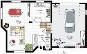 plan de maison 90m2 a etage With plan maison demi etage 2 plan maison avec demi sous sol ooreka