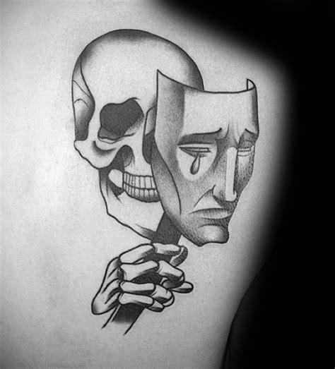 60 Drama Mask Tattoo Designs For Men  Theatre Ink Ideas
