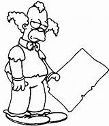 Clown Krusty Coloring Simpsons Pages Drawing Simpson Drawings Sideshow Template Printable Getdrawings Popular Everyone sketch template