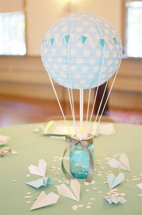 Our Change Of Art Hot Air Balloon Centerpiece Hobby