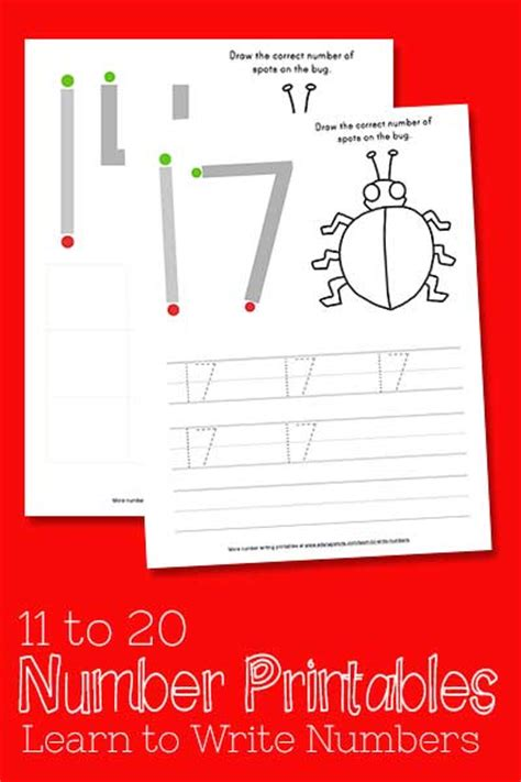 learn to write numbers 11 20 using this free printables