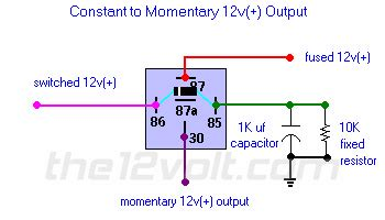 Neg Relay Switch Wiring Diagram by Constant To Momentary Output Positive Input Positive