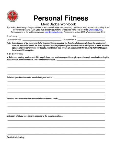 personal management merit badge answers for worksheet