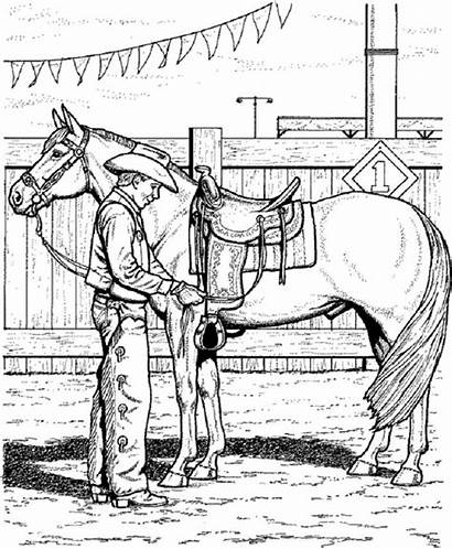 Horse Coloring Pages Printable Nice Rider