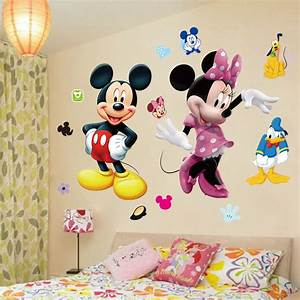mickey mouse minnie vinyl mural wall sticker decals kids With kitchen cabinets lowes with mickey minnie wall art