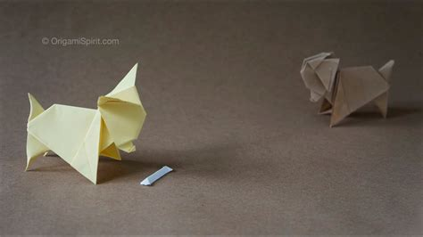 origami dog perro chihuahua youtube