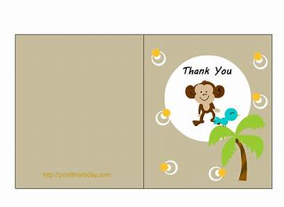 Thank Jungle Shower Card Cards Printable Naughty