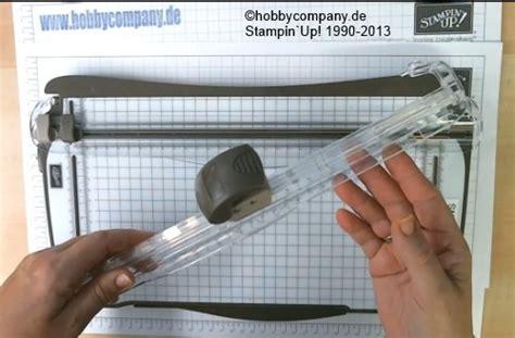 papierschneider von stampin  anleitung zum