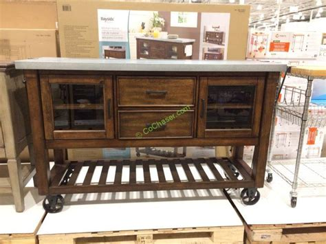 costco kitchen island bayside furnishings kitchen island console costcochaser