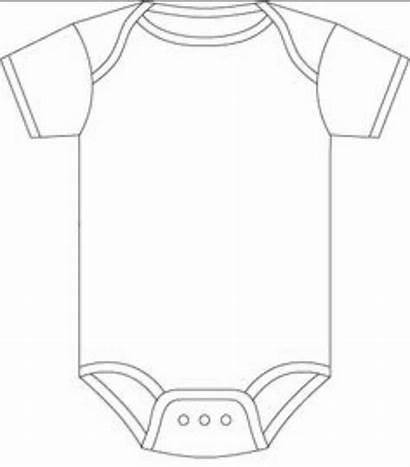 Template Onesie Shower Templates Vest Clipart Invitation