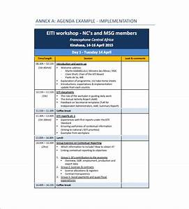 Training agenda template icdiscus for Training module template