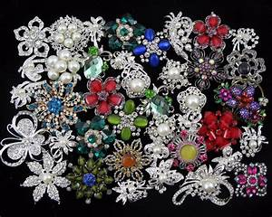 Wholesale 40pcs Crystal Rhinestone Brooch Pin Bridal