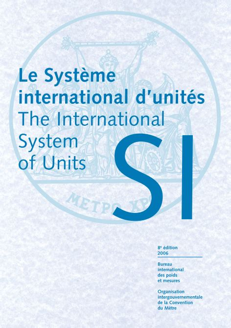 si e d inition 플랜트 엔지니어링 the international system of units si 8th