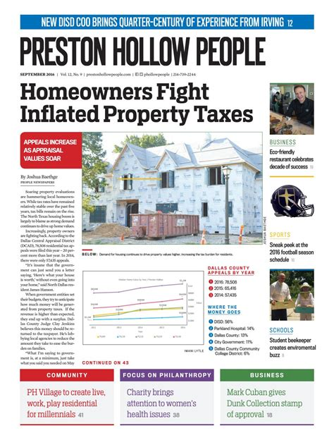 Preston Hollow People September 2016 by People