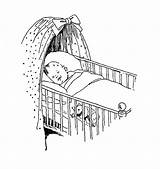 Baby Crib Sleeping Drawing Sketch Cot Digital Drawings Coloring Stamp Babies Cribs Bear Face Teddy Sketches Stamps Digi Cute Adorable sketch template