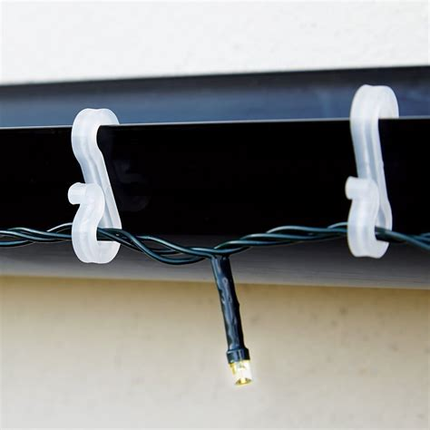 plastic christmas light clips weatherproof plastic roof mini gutter s clip hooks party