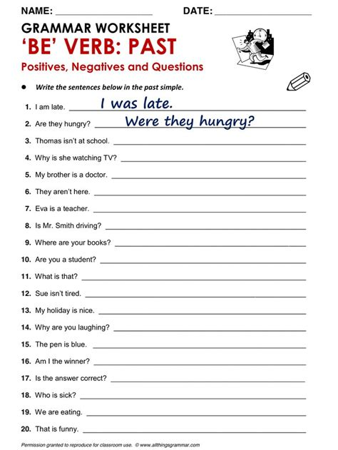 Printable Grammar Worksheets Answers High School Printable Best Free Printable Worksheets