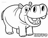 Hippo Coloring Pages Printable Cool2bkids sketch template