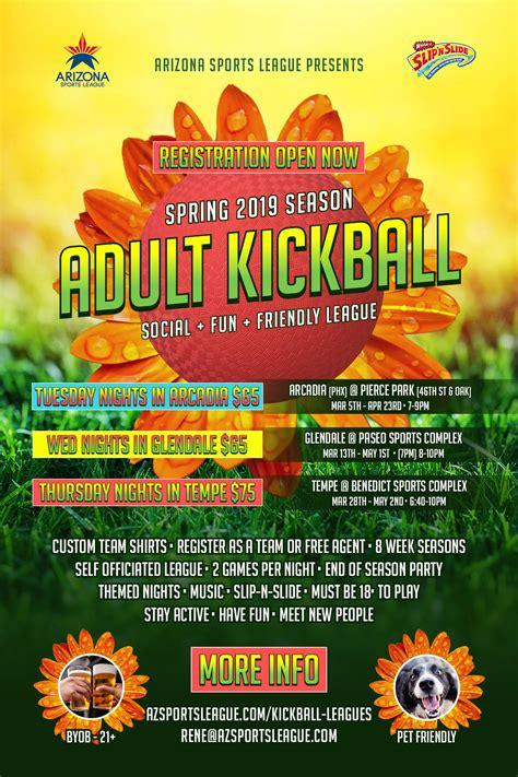 asl kickball spring  reg flyer combo arizona sports league