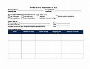 40 performance improvement plan templates examples With 30 day performance improvement plan template