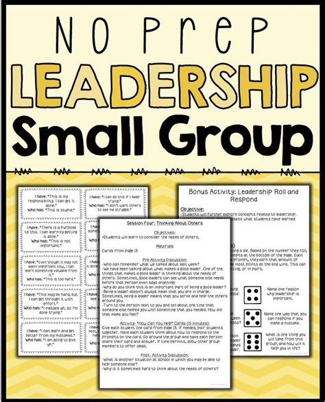 leadership activities  counseling small groups