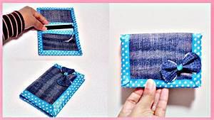 DIY Simple u0026 Easy Bi-Fold Wallet from Old Jeans (No Sew Denim Wallet) - YouTube