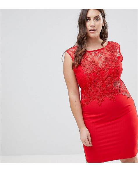 Lipsy Lace Applique Dress by Lipsy Lace Applique Bodycon Dress In Lyst