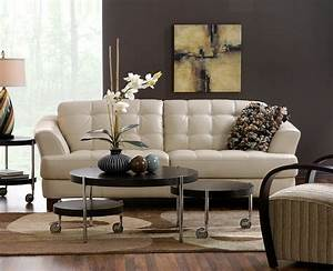 delray taupe all leather sofa also available in red and With taupe sectional sofa decorating ideas