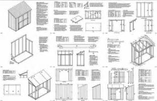 6 X 8 Slant Roof Shed Plans by Slant Lean To Roof Style Storage Shed Plans 4 X 8