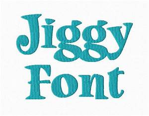 jiggy machine embroidery font monogram alphabet 3 sizes With embroidery machine for lettering