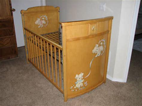 vintage baby cribs wood baby crib edison folks wooden antique