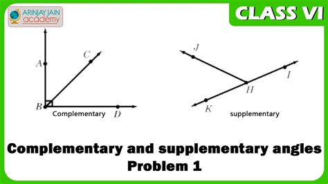 163$ Cbse Class Vi Maths, Icse Class Vi Maths  Complementary And Supplementary Angles Problem