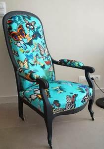 Fauteuil Voltaire Moderne : ils ont eux m me restaurer ou tapisser leur fauteuil ou si ge ~ Teatrodelosmanantiales.com Idées de Décoration