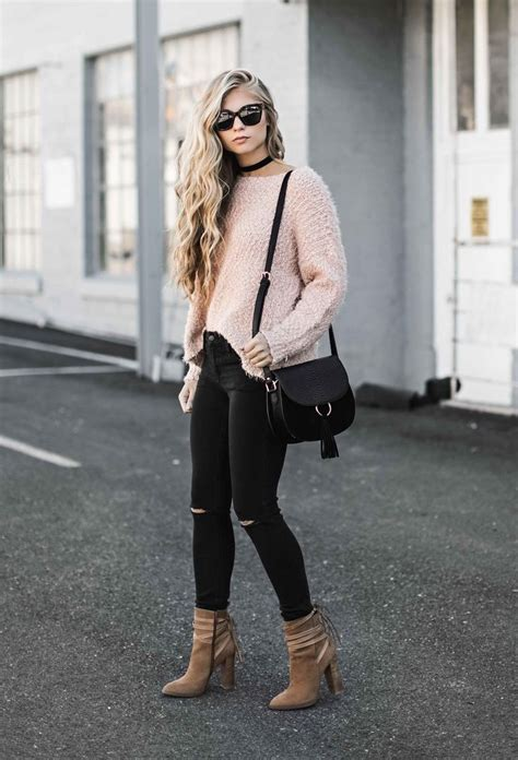 Best 25+ Pink sweater outfit ideas on Pinterest   Outfits Outfits primavera and Winter sweater ...