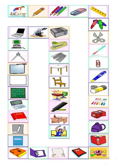 jeu des fournitures scolaires fiche d 39 exercices fiches