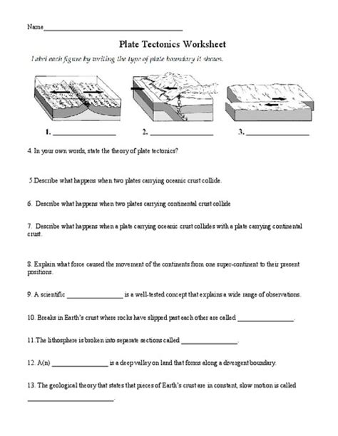 all worksheets 187 tectonic plates for worksheets