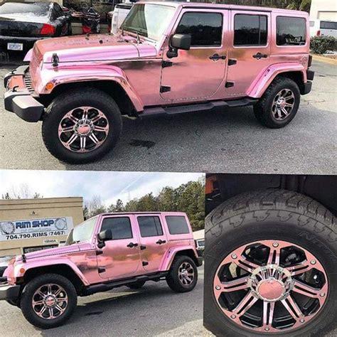 jeep mercedes rose gold pink jeep wrangler on instagram