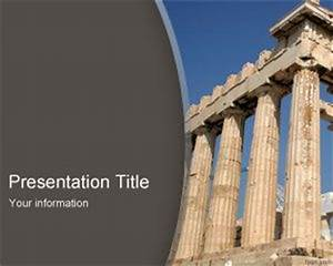 Free parthenon powerpoint template for Ancient greece powerpoint template
