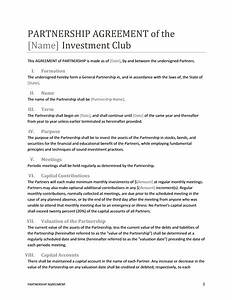 Contract templates guidelines and templates for drafting for Corporate partnership agreement template