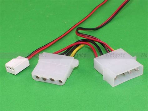 3 pin fan to 4 pin motherboard adapter 3pin fan female to 4pin molex male female adapter cable