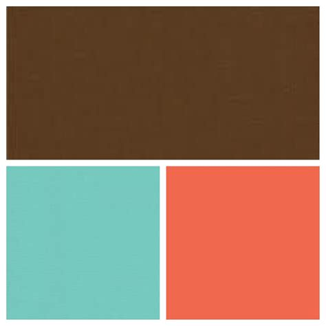 coral tiffany blue and brown cute not naked