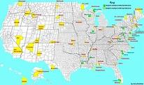Mapa de Estados Unidos o Mapa Usa
