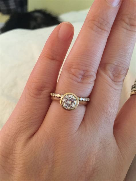 looking for ideas for wedding band with bezel set