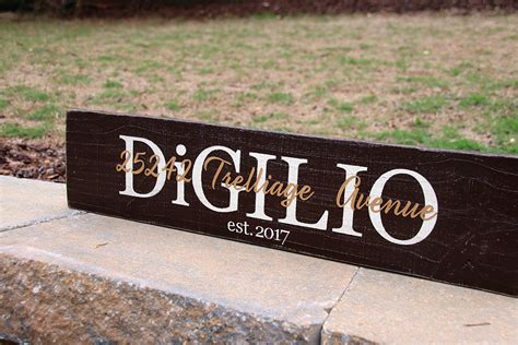 family   established date painted wood sign ft signs  andrea