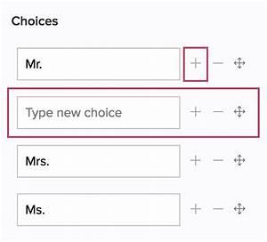Add A Prefix Choice In The Name Field