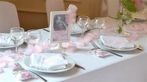 Decoration Pour Bapteme Fille : deco bapteme fille plume ~ Mglfilm.com Idées de Décoration