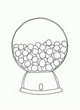 Gumball Machine Coloring Pages Printable Template Round Bubble Empty Print Outline Popular Cartoon Getcolorings Coloringhome sketch template