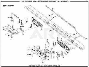 Homelite 30254eg Electric Pole Saw Parts Diagram For