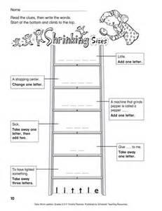 Printable Word Ladders Grade 4