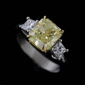yellow engagement ring fancy yellow platinum and 18k gold engagement ring orospot jewelry on
